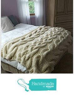 Chunky Oversized Cable Knit Blanket-MADE TO ORDER from OzarksMomma http://www.amazon.com/dp/B015M45H4W/ref=hnd_sw_r_pi_dp_et1fwb0TYR0N9 #handmadeatamazon