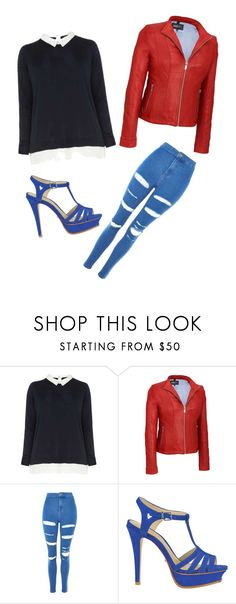 """""""78"""" by cesarioludmi ❤ liked on Polyvore featuring Dorothy Perkins, Topshop, Schutz and plus size clothing"""