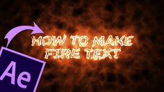 This is a quick easy tutorial I made because I have never seen a good tutorial on this. But as always don't forget to Like, comment and subscribe to help me ... How To Make Fire, Project Board, Good Tutorials, Still Working, Help Me, Filmmaking, Infographics, Don't Forget, Projects To Try