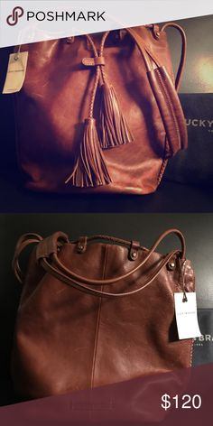 Lucky Brand leather bucket bag NWT Gorgeous leather bucket bag from Lucky Brand. This is new with tags and comes with a dustbag. Lucky Brand Bags