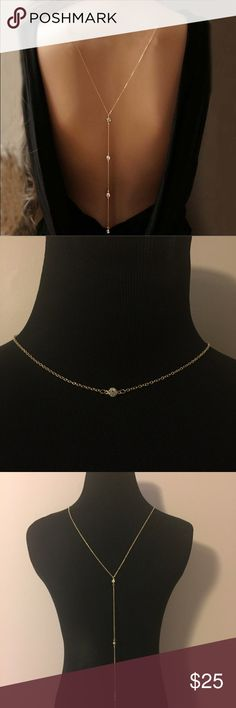 NWT free People sexy back body jewelry necklace BNWT. Ships same or next day. Free People Jewelry Necklaces