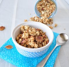 This Pecan Pie Granola makes a good breakfast or an afternoon snack.