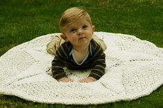 Super Fun Knits--Daniel Yuhas--Sand Dollar Baby Blanket I may like this one even better! So cute!!!