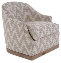 Booker Swivel Chair, Ivory/Flax