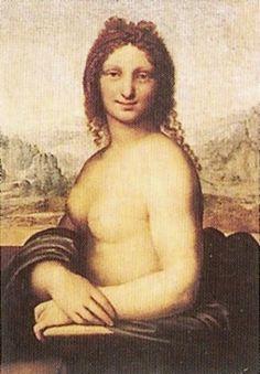 Le premier a avoir créé une œuvre originale d'après La Joconde est Salai, le disciple de Léonard de Vinci, qui en 1515 réalisa un portrait de femme nue appelé Monna Vanna.