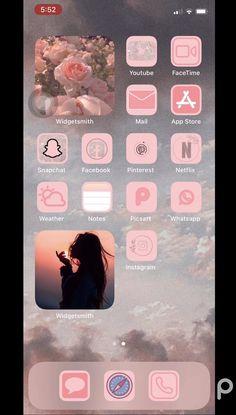 Wallpaper Iphone Neon, Iphone Wallpaper Tumblr Aesthetic, Wallpaper App, Iphone Home Screen Layout, Iphone App Layout, Iphone Life Hacks, App Anime, Phone Themes, App Icon Design
