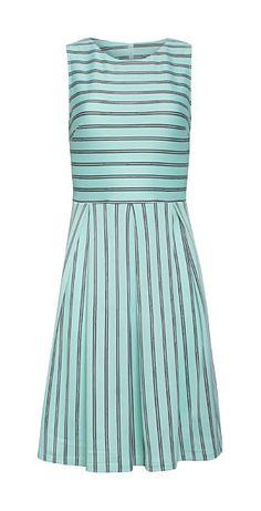 Pastelové šaty s drobným proužkem Smashed Lemon Maud Lab, Spandex, Summer Dresses, Model, Fashion, Moda, Fashion Styles, Scale Model