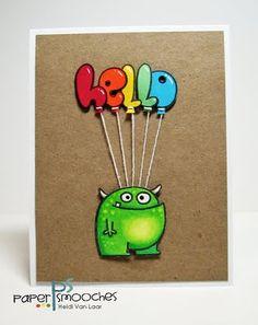 Paper Smooches card by heidi van laar Envelopes, Punch Art Cards, Paper Smooches, Kids Cards, Baby Cards, Heartfelt Creations, Copics, Masculine Cards, Card Kit