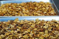 Pioneer Woman's Chex Mix  She uses a few dashes of hot sauce!  It's in my oven right now :)