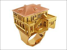 建造物を指輪のデザインにそのまま変えた「Architecture」 - GIGAZINE
