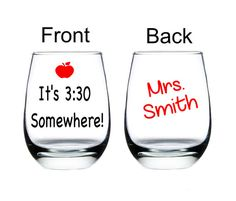 Teacher Wine Glass, Teacher Gift, Teacher Christmas gift, I teach
