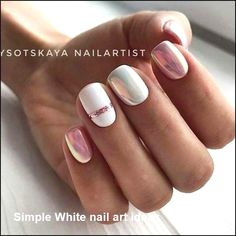 91 simple short acrylic summer nails designs for White Nail Art Ideas Nail Design Gold, White Nail Designs, Nail Art Stripes, Striped Nails, White Nail Art, White Nails, Stylish Nails, Trendy Nails, Nail Manicure