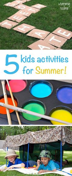 Fun kids' activities - Play backyard scrabble, make homemade finger paint, and make a fort every day this summer!