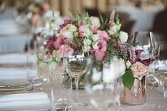 LETTUCE & CO - STYLE. EAT. PLAY 'jennifer + peter' - winery wedding'. tablescape. table styling. centerpiece. modern vintage lace.    pastels, rose gold and grey adorned the Balgownie Estate Winery reception venue.