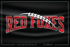 Red Foxes SVG, Red Foxes Football SVG, Football, Sports#ball #sportsball #sportslogo