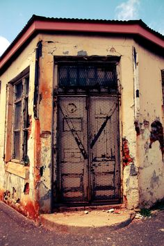 Old door, Salt River, Cape Town, South Africa by Robin Brown Watercolor Architecture, True Homes, Old Buildings, Beautiful Buildings, Woodstock, Cape Town, Travel Style, Vintage Photos, South Africa