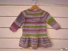 Vestido niña en una sola pieza - mariposa tricotosa