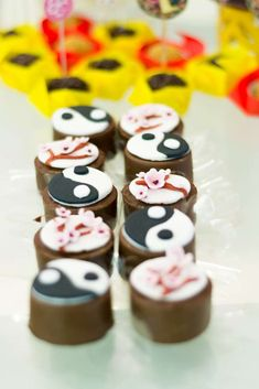 Chocolate treats at a Mulan birthday party! See more party ideas at CatchMyParty.com!