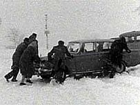 The Big Freeze 1963 lasted for 2 months and caused chaos across Britain.---------------------None of today's nonsense of schools being closed. You got there or else.