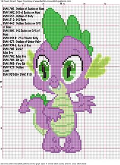 Spike Cross Stitch Pattern by *AgentLiri on deviantART perler bead design