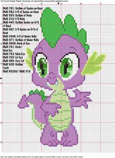 Spike Cross Stitch Pattern by *AgentLiri on deviantART perler bead design