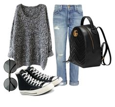 """My casual look"" by farwah019 ❤ liked on Polyvore featuring Current/Elliott, Converse and Gucci"