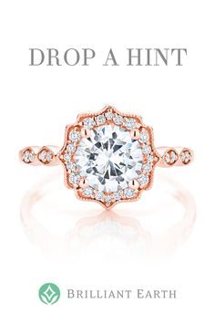 """Tell your special someone what's on your wish list. Click """"Drop a Hint"""" on any item and we'll send them a hint (so you don't have to). Wedding Rings Vintage, Wedding Jewelry, Wedding Bands, Gold Engagement Rings, Morganite Engagement, Dream Ring, Diamond Are A Girls Best Friend, Bridal Rings, Anniversary Rings"""