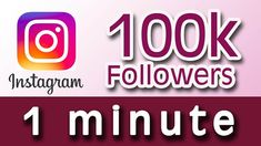 Instagram Followers Generator: This is the easiest way to get over 100,000 followers on instagram even without following anybody since its automated. Imagine sending your Affiliate Link or CPA link to about 100,000 followers, you can't imagine how much you are going to make daily therefore, get your 100k followers now.
