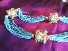 Turquoise multi strand seed bead necklace with by ElementsbyRikita, $20.00