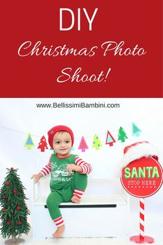 How to take your own Christmas Photos of your kids!   5 Tips for an Easy DIY Christmas Photo Shoot!