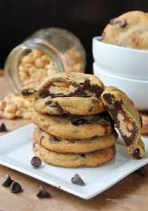 Soft and Chewy Jokerz-Stuffed Chocolate Chip Cookies - will try a gf version as a special treat