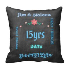 Any years married Wedding Anniversary chalkboard Pillows
