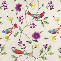 Fabricut The Singing Tree Peacock Fabric - Image 1