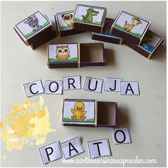 Gravura x palavra - A Arte de Ensinar e Aprender Literacy Activities, Activities For Kids, Material Didático, Mothers Day Crafts For Kids, Education English, Reggio Emilia, Childhood Education, Phonics, Teaching Kids
