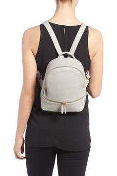 3eeb9491c2ff1 Alternate Image 2 - Girly Faux Leather Mini Zip Backpack Faux Leather  Backpack