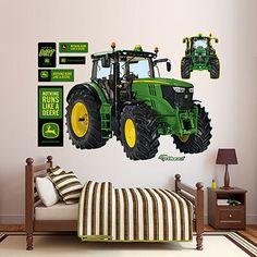 John Deere 6210R Tractor 66X52 Wall Graphic