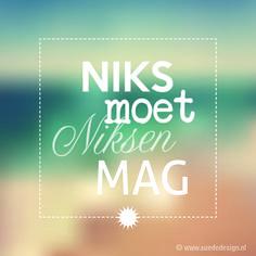 Niks moet Niksen mag! #vakantie #suededesign
