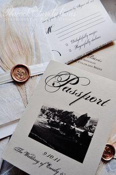The Emily Colorado Canyon Vintage Passport Wedding Invitation Passport Wedding Invitations, Vintage Wedding Invitations, Wedding Stationery, Invites, Invitation Ideas, Wedding Wall, Wedding Things, Wedding Stuff, Wedding Ideas