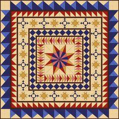 Red White & Blue Round Robin Quilt Pattern