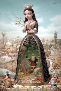The Creatrix by Mark Ryden, still my favorite painting of all time.  You have to see it in person to understand it's magnitude.