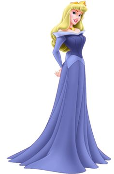 Princess Aurora. I love that she is in blue! She DOES have blue on for most of the movie ya know...