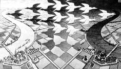 He was dismissed by the art world and venerated by mathematicians … he rejected both Mick Jagger's and Stanley Kubrick's attempts to schmooze him. So who was the mysterious MC Escher, master of illusion? Magritte, Escher Kunst, Mc Escher Art, Escher Drawings, Art Museum, Tessellation Art, Escher Tessellations, Dulwich Picture Gallery, Art History