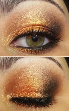 Love gold eyeshadow? Check out our favorites shades of gold + yellow at http://www.orglamix.com  Shades of Yellow: banana, topaz, chartreuse, chiffon, cream, golden, goldenrod, khaki, lemon, mellow yellow, cadmium yellow, saffron, yellow ocher, gold. Style: Enlightening. Radiant. Confident. Find the best selection of 100% pure all natural yellow eyeshadow @orglamix