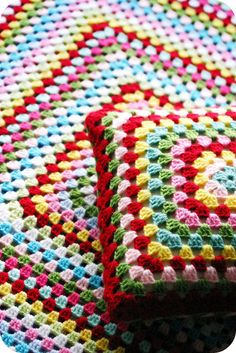 I love making a huge granny square afghan or pillow. Goes fast and is relaxing to make.