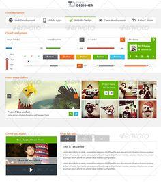 Metro Type UI kit - User Interface Template PSD. Download here: http://graphicriver.net/item/metro-type-ui-kit/3966037?s_rank=1077&ref=yinkira