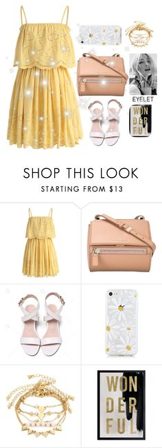 """""""summer break"""" by faanciella on Polyvore featuring Chicwish, Givenchy and Oliver Gal Artist Co."""