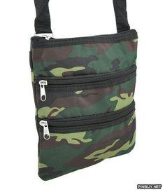 Army Camouflage Print Crossbody Travel Bag - PinBuy