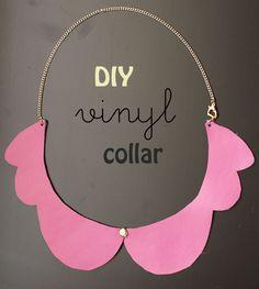 DIY Vinyl Collar Necklace