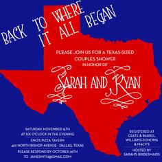 Texas Couples Shower Invite