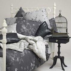 Jigsaw Romantic Bird Duvet Cover, Grey.  John Lewis